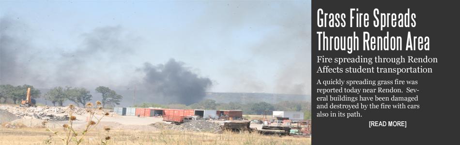 Grass Fire Spreads Through Rendon Area