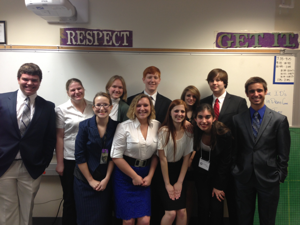 AcaDec team members dress up on competition day for interviews and speeches.