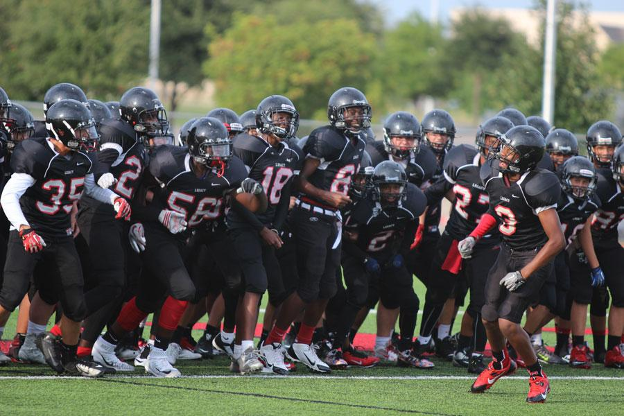 Freshman football goes undefeated, completing season 10-0.