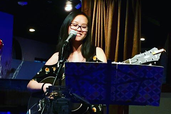 JenniLee Johnson, 10, performs at a restaurant during one of her monthly gigs.