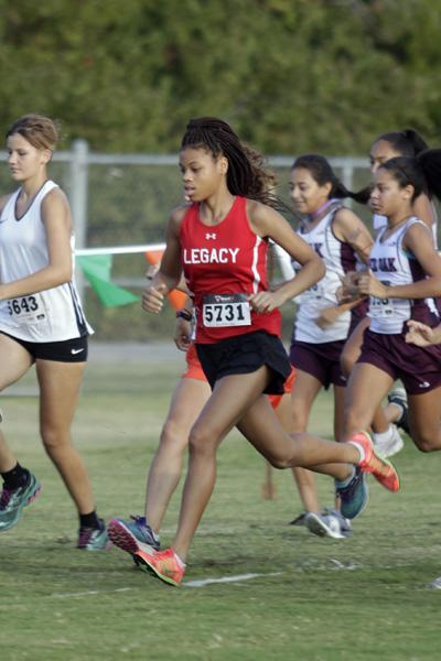 Cross Country participated in the Mansfield Invitational on Sept. 22. Sophomore Harmoni Turner finishes 4th in varsity women, and is the only Legacy runner moving on to UIL Regional Cross Country Meet.