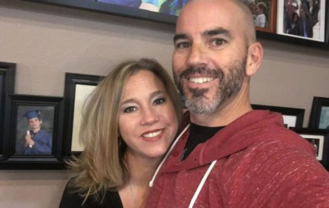 Mr. Shane Skinner poses for a selfie with his wife Mandy. They married in the spring of 2000.
