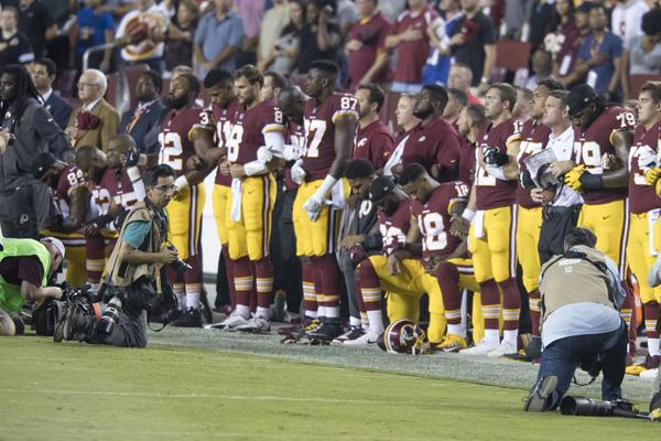 The staff reflects on whether or not NFL players have the right to kneel.
