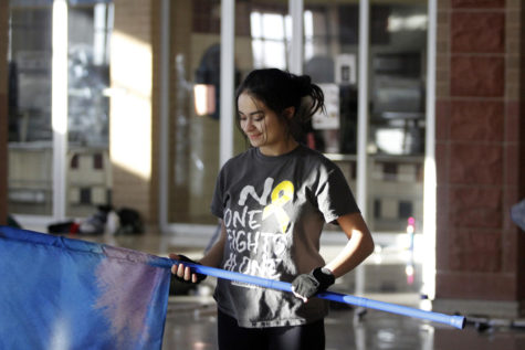 Color Guard Members Prepare For New Season