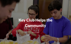 Key Club Helps the Community