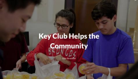 Key Club Helps the Community