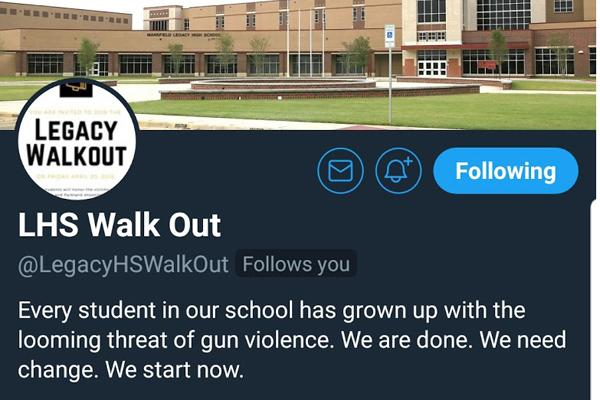 The LHS Walkout Twitter account which was used to plan the April 20 walkout.