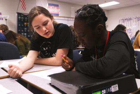 Helen Baker, 11, tutors Ms. Teague