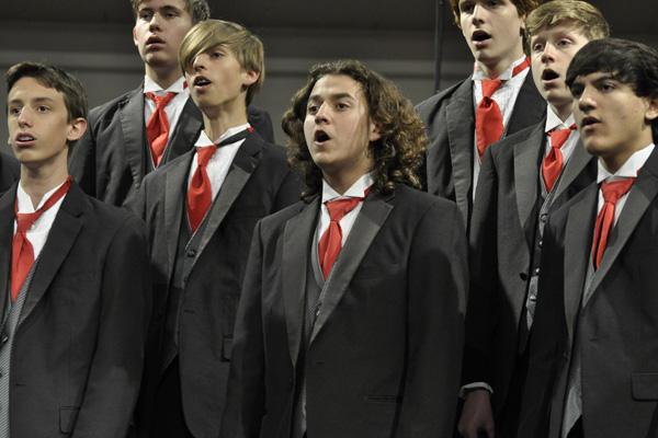 Men's Ensemble Choir performs