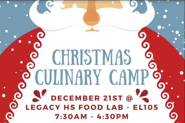Culinary teacher hosts a Christmas cooking class for children.