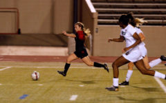 Brigid Murray, 12, dribbles the ball toward the goal in the playoff game against Birdville.