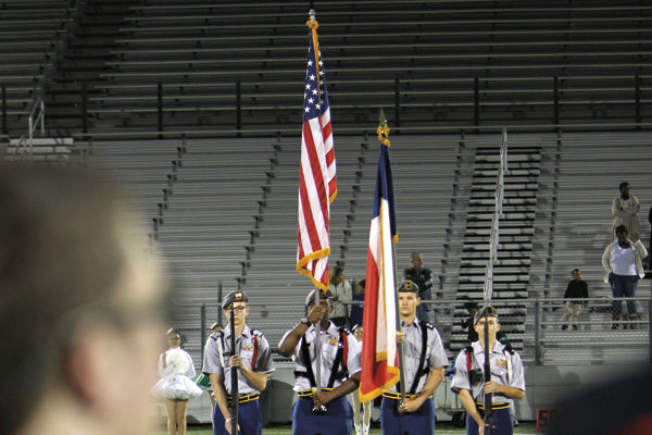 JROTC performs during homecoming. The new  sergeant major arrived on May 3.