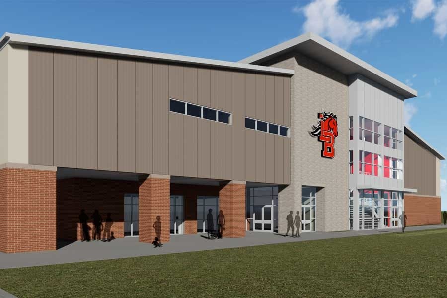 Inside New Multi-Purpose Athletic Center