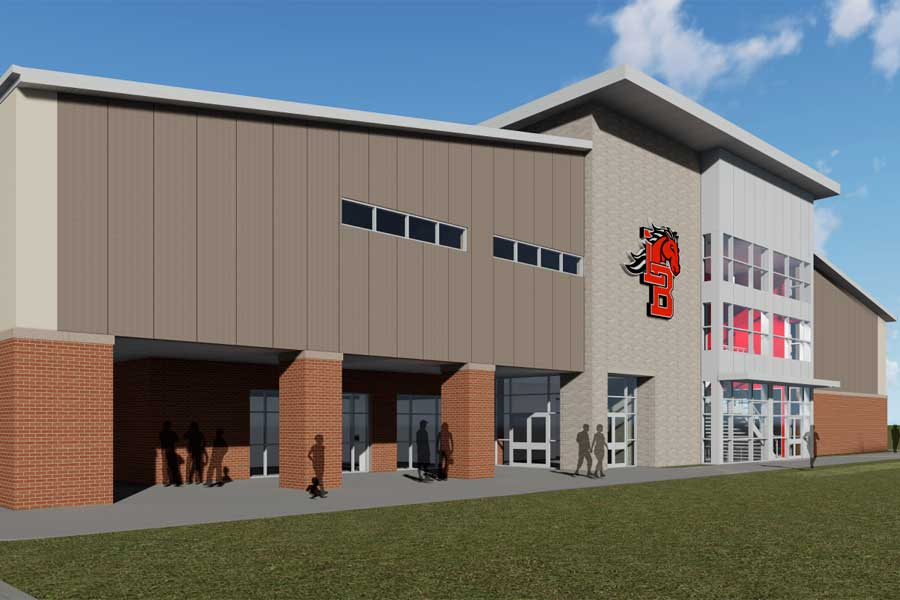 The new Multi-Purpose Athletic Center will include offices, locker rooms, a weight room and more. Construction began on the facility at the start of the spring 2019 semester.