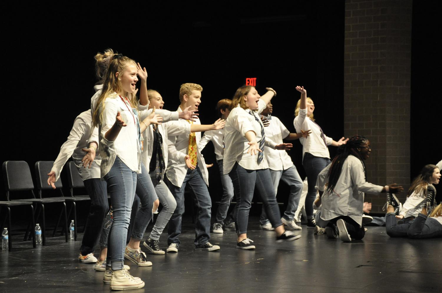 Students perform at last year's improv show. This year's auditions for Mission Improvable took place on Wednesday, Aug 21.