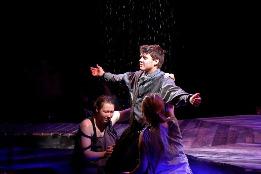 Logan+Chapman%2C+12%2C+embraces+the+rain+at+the+end+of+the+show.+%28Seth+Miller+photo%29