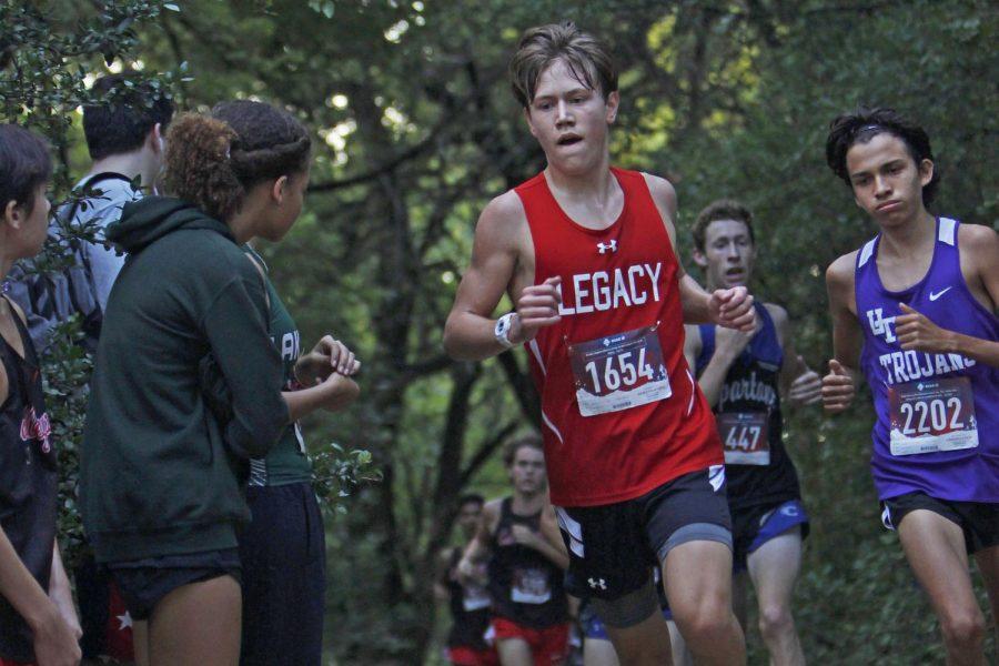 Ethan Elston, 11, runs at the Burleson Invitational on Aug. 30