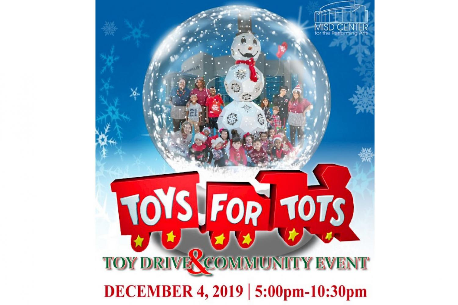 Mansfield will host the annual Toys for Tots toy drive on Dec. 4 at the Center.