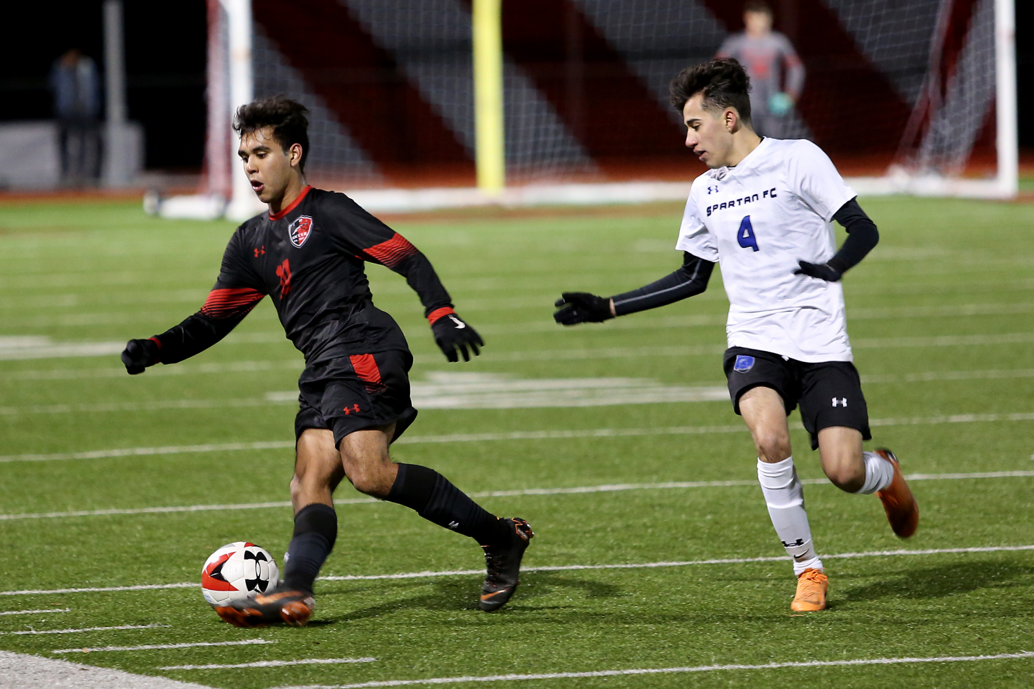 [file photo] Bruno Gallegos, 12, dribbles the ball in a game versus Burleson Centennial during the  2019 season.