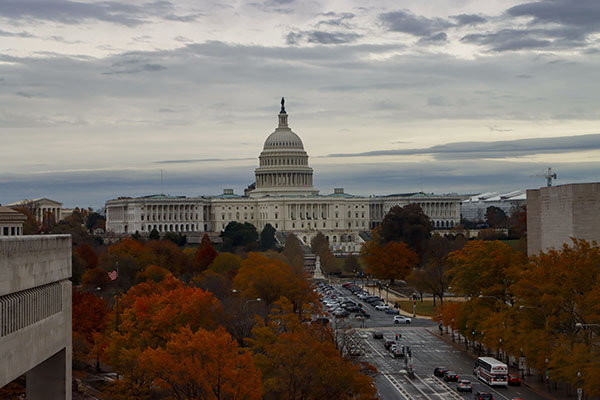 Journalism students visited Washington D.C. in Nov. and took pictures of the capitol building.