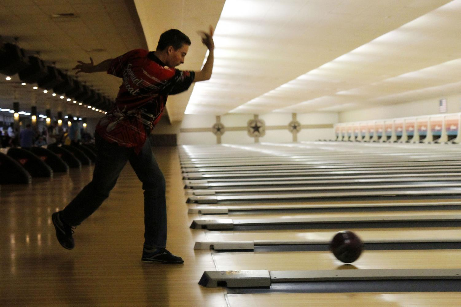 Samuel Malicoat, 11, practices at Forum Bowling Lanes. The bowling team practices every Tuesday and Thursday at Forum.