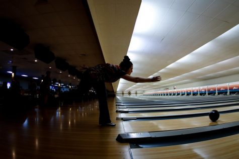 Bowling, Samantha Spalding, 9, practices for the girls bowling team at the Forum Bowling Lanes on Jan. 30.